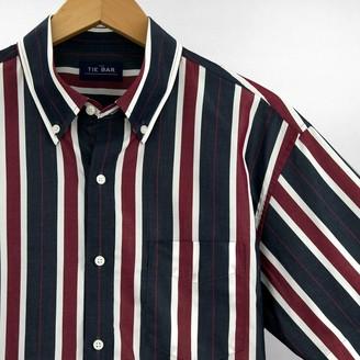 Tie Bar Multi Camp Stripe Navy Short Sleeve Shirt
