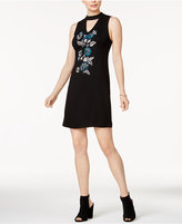 Kensie Embroidered Choker Dress