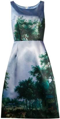 Comme des Garcons Landscape-Print Midi Dress