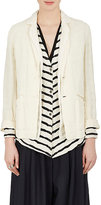 Pas De Calais Women's Wrinkled Linen Two-Button Jacket