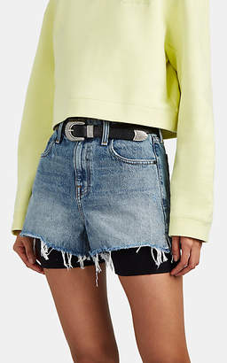 Alexander Wang Denim x Women's Bite High-Rise Denim Cutoff Shorts - Lt. Blue