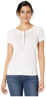 Nic+Zoe Button Up Tee (Paper White) Women's Blouse
