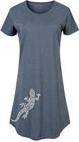 Instant Message Women's Women's Tee Shirt Dresses HEATHER - Heather Blue Geometric Lizard Short-Sleeve Dress - Women & Plus