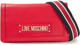 Love Moschino Logo-appliqued Pebbled-leather Shoulder Bag