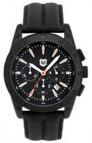 Andrew Marc Men's A10702TP Heritage Racer Chronograph Stainless Steel Watch with Calfskin Band