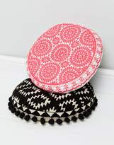 bombay duck Souk Embroidered Round Cushion
