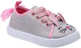 Beverly Hills Polo Club Girls' Sneakers Silver - Silver & Pink Glitter Bunny Bow Sneaker - Girls