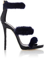 Giuseppe Zanotti Women's Coline Fur & Leather Sandals