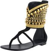 Giuseppe Zanotti Design Women's Suede Ankle Beads Decorated Shoes