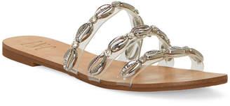 INC International Concepts Inc Women Voma Shell Strappy Slide Sandals, Women Shoes