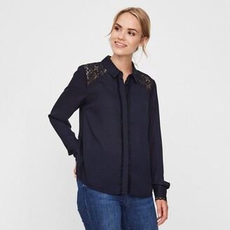 Vero Moda Embroidered Blouse with Lace Details