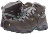 Keen Detroit XT Mid Steel Toe Waterproof (Gargoyle/Lake Blue) Women's Work Boots
