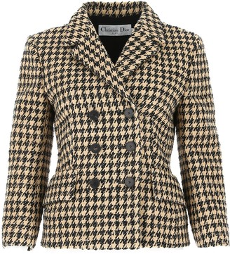 Dior Houndstooth Double Breasted Jacket