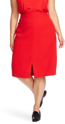 Court And Rowe Front Slit Crepe Pencil Skirt