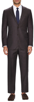 Hickey Freeman Wool Solid Notch Lapel Suit