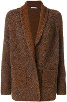 Fabiana Filippi knitted wrap top - women - Cotton/Polyamide/Spandex/Elastane/Merino - 40