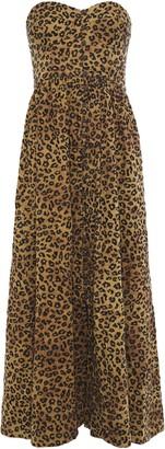 Mara Hoffman Mercedes Strapless Gathered Cotton Maxi Dress