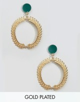 Gogo Philip Gold Plated Fan Hoop Earrings
