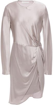 Mason by Michelle Mason Draped Twisted Silk-charmeuse Mini Dress