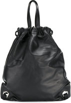 Moncler classic drawstring backpack - men - Leather/Polyimide - One Size