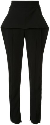 Maticevski Toreador fold-detail trousers