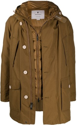 Woolrich Padded Long-Sleeve Rain Coat