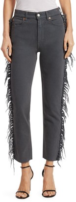 Iro . Jeans Iro Jeans Movement Fringe-Trimmed Cropped Jeans