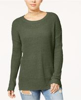 Ultra Flirt Juniors' Waffle-Knit Sweater