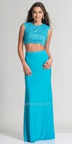 Dave and Johnny Pearl Embellished Two Piece Prom Dress