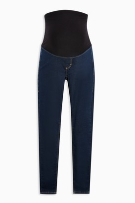 Topshop Womens **Maternity Indigo Over The Bump Joni Skinny Jeans - Indigo