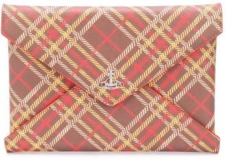 Vivienne Westwood Checked Envelope Clutch