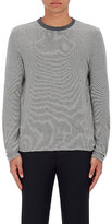 Officine Generale Men's Feed Striped Cotton Long-Sleeve T-Shirt-GREY, WHITE