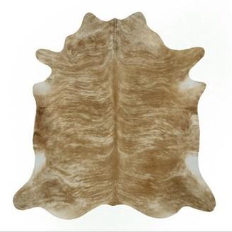 "Saddlemans Cowhide Handmade Cowhide Beige Rug Rug Size: Novelty 6'6"" x 7'6"""