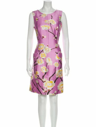 Oscar de la Renta 2014 Mini Dress Purple