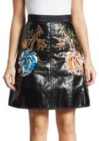 Romance Was Born Metallic Embroidered Skirt