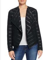 Bagatelle Faux Leather Trimmed Pleat Jacket