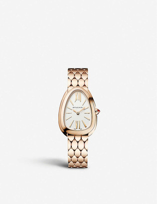 Bvlgari Serpenti Seduttori 18ct pink-gold watch