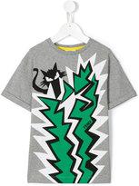 Fendi cat print T-shirt - kids - Cotton/Spandex/Elastane - 2 yrs