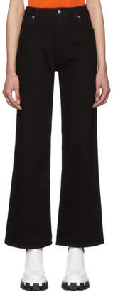 Eckhaus Latta Black Wide Leg Jeans