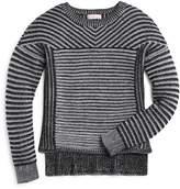 Design History Girls' Vertical & Horizontal Stripe Sweater