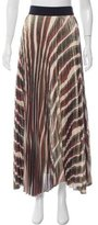 Alice + Olivia Metallic Maxi Skirt w/ Tags