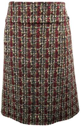 Chanel Red Tweed Skirts