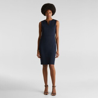Esprit Sleeveless Knee-Length Dress with V-Neck