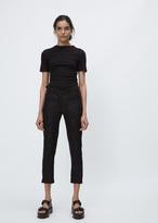 Ann Demeulemeester savory black cropped pattern trouser