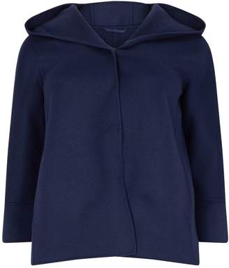 Marina Rinaldi Hooded Wool Coat