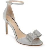 Badgley Mischka Urania Crystal Bow Ankle Strap Sandal