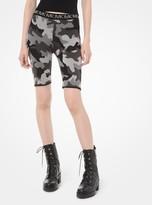 MICHAEL Michael Kors Camouflage Jacquard Biker Short