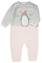 Angel Dear Girls' Color-Block Penguin Coverall - Baby