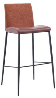 "Euro Style Rasmus Counter & Bar Stool Stool Eurostyle Color: Dark Brown, Seat Height: Bar Stool (29.73"" Seat Height)"