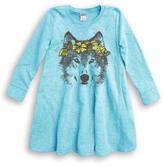 Urban Smalls Gray Wolf Wreath A-Line Dress - Toddler & Girls